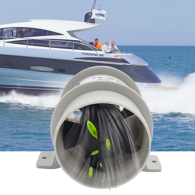 12V In Line Bilge Ventilation Blower Inline Fan 145CFM for Marine Boat Yacht