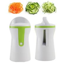 Handheld Vegetable Spiral Slicer Cutter Chopper Spiralizer Shred Fruit Twister