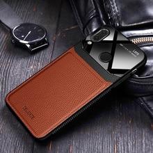 I coque, чехол, чехол, для Xiaomi Redmi Note 7 Pro Note7 на кожаном зеркальном стекле, Силиконовый противоударный чехол для телефона, роскошный мягкий милый чехол s
