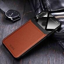 I coque, 커버, 샤오미 Redmi Note 7 프로 Note7 가죽 미러 유리 실리콘 Shockproof 럭셔리 소프트 귀여운 케이스