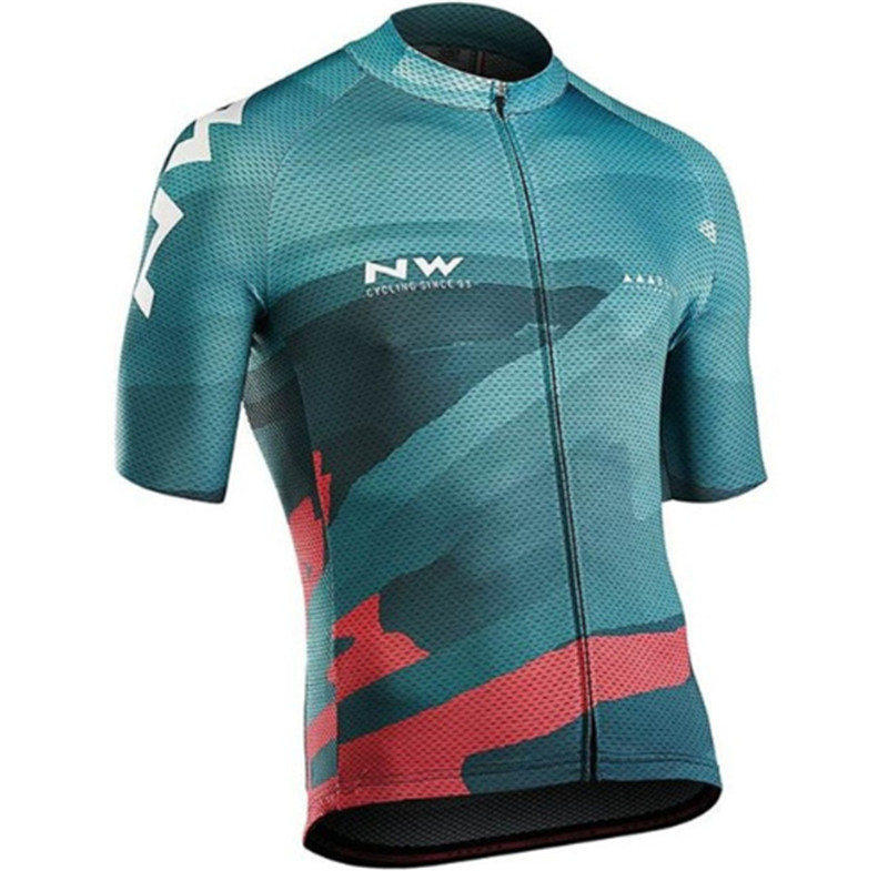 <font><b>2019</b></font> Team <font><b>NW</b></font> <font><b>NORTHWAVE</b></font> Summer Men's Cycling Jersey Shirts Short Sleeve Maillot Ciclismo Quick Dry MTB Bike Tops Clothing Wear image