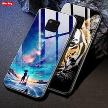 For Huawei Mate 20 Pro Case Cartoom Tempered Glass Case For Capa Huawei Mate 20Pro Mate20 Mate 20 x Mate 20 Lite Hoesje Coque печатающая головка hp printhead 85 magenta c9421a