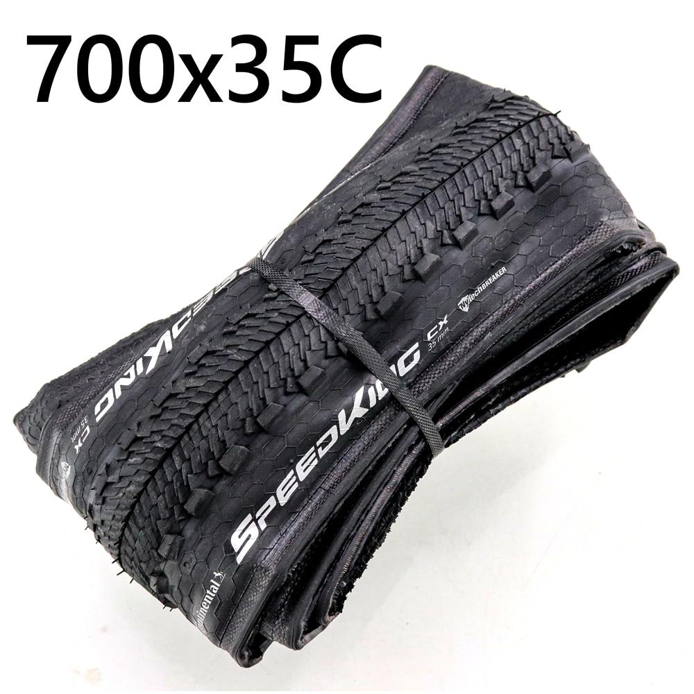 Velocidade continental rei cx 700x35c dobrável pneu clincher cyclocross cascalho bicicleta pneu