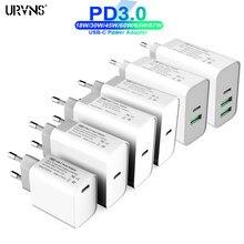 URVNS TYPE-C Adaptateur secteur USB 30W 45W 60W 65W 87W QC3.0 PD Rapide Chargeur Mural Pour USB-C Ordinateurs Portables MacBook Pro/Air Samsung iPhone