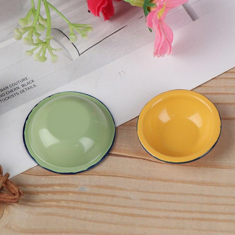 1/12 Dollhouse Miniature Retro Mini Metal Soup Pots Bowl Kitchen Accessories Toys