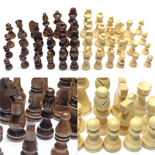 Chess-Pieces Wooden of for Replacement