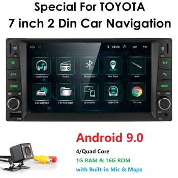 Android 9.0 Car Multimedia Player Fit Toyota 7hd Mirror Car Video Player GPS Navigation Stereo Radio DAB+ OBD2 DVR Reverse Cam image