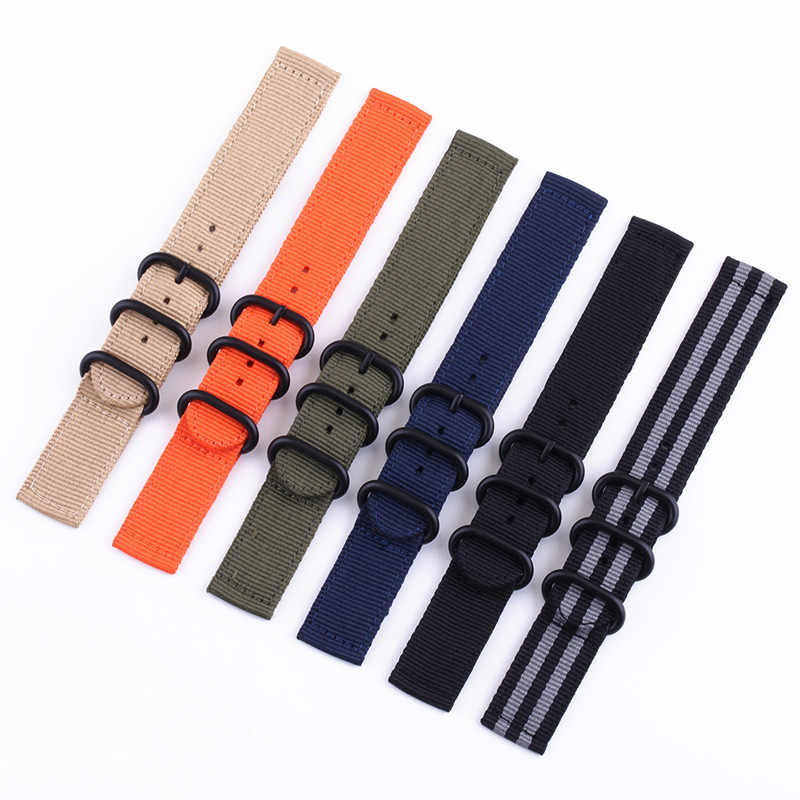 Nylon Watch Band 18mm 20mm 22mm 24mm Replacement Watch Strap for Samsung Gear Amazfit MOTO Universal Knit Bracelet with Pins