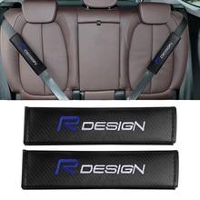Cushion Car-Seat-Belt-Pads Rdesign Volvo Seat-Shoulder-Strap Emblem for XC90 S60 XC60