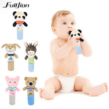 Fulljion Handbell Baby Rattles Mobiles Toy Soft Bed Bell Tod
