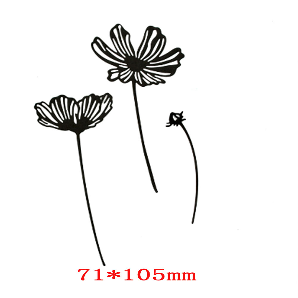 3 Small Flowered Carbon Steel METAL CUTTING DIES Stencil Scrapbooking Photo Album Card Paper Embossing Craft DIY