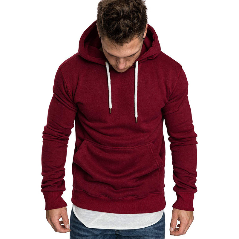 Sweatshirt Men 2019 New Leisure Sports Hoodies Brand Male Long Sleeve Solid Hoodie Men Hoody Black Red Big Size Poleron Hombre