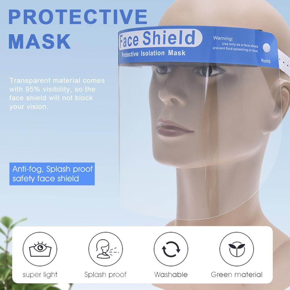 Transparent Face Protection Mask Screen Dust-Proof Oil-Proof Anti-splash Kitchen Mask Eye Protection Transparent Mask For Childs