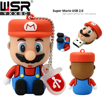 usb2.0 pen drive cute super mario 8gb 16gb 32gb disk on key real capacity 64gb 128gb usb memory free delivery best computer gift
