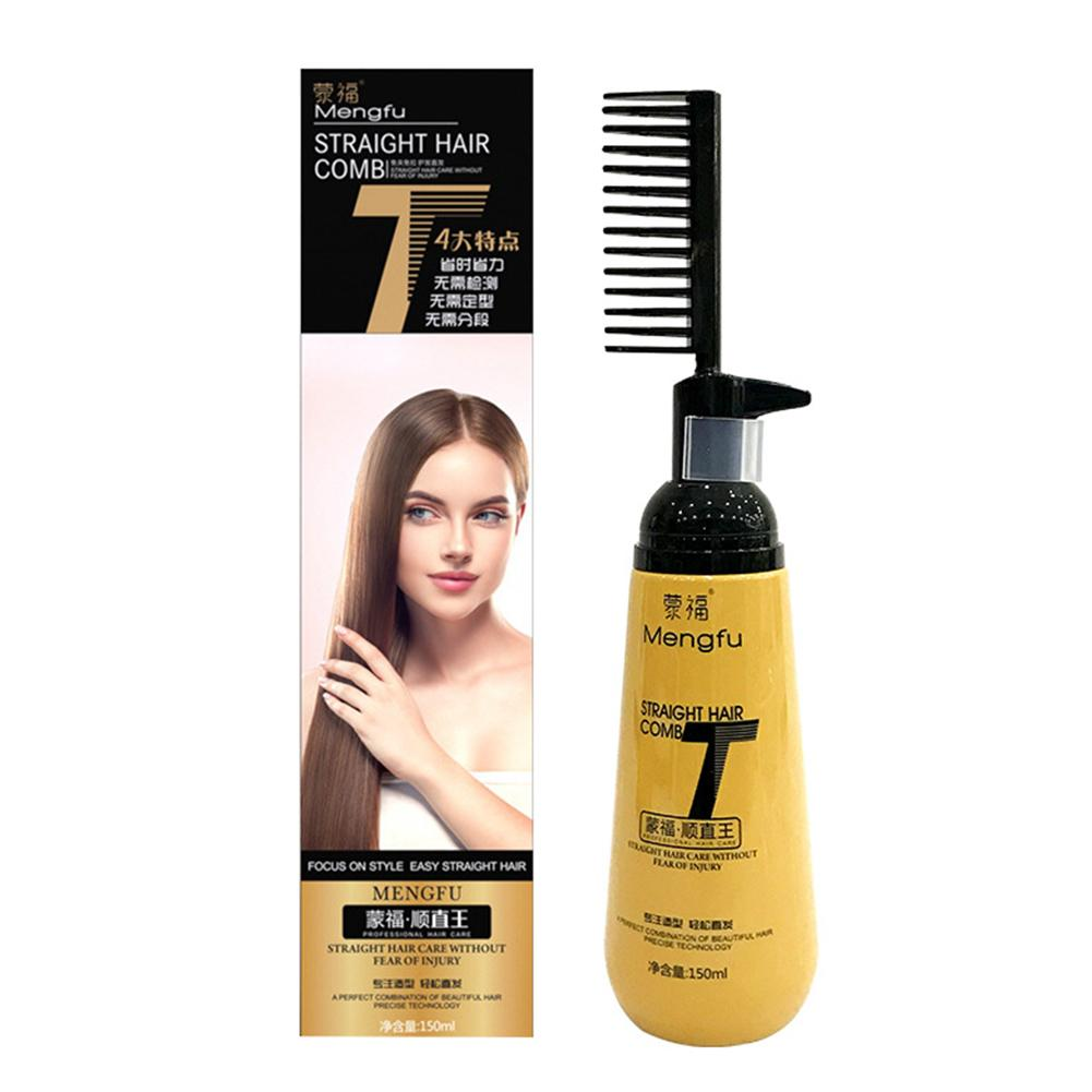 Hair Treatment Professional Straighten And Smooths Hair Cream With Comb For Women Hair-care Pull-free Clip-free Straight Hair Cr