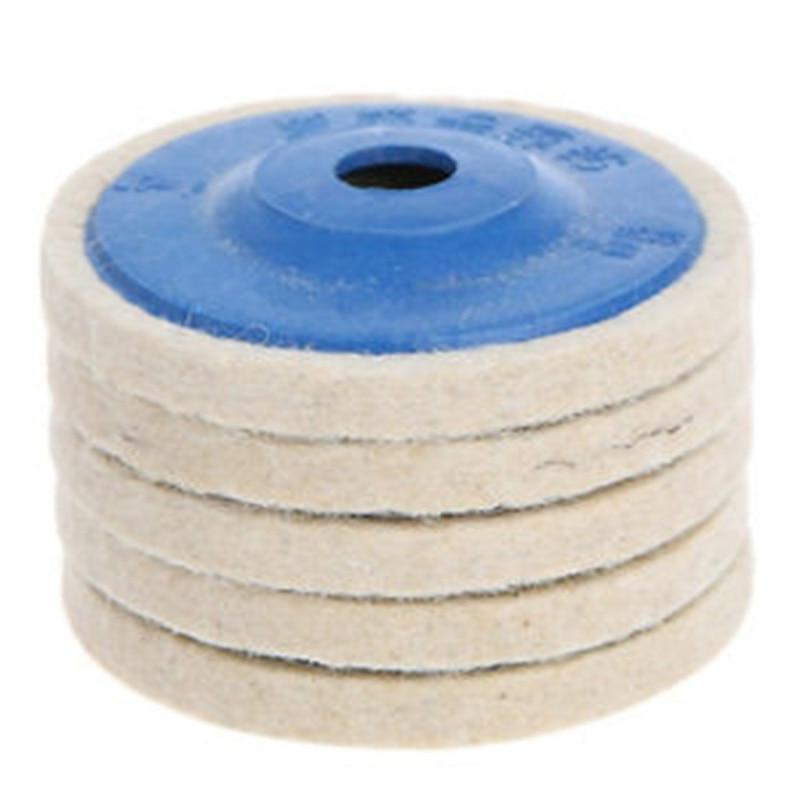 100mm 4 Wool Felt Buffing Wheel Polishing Disc Pad Fit For Angle Grinder Tools Wool Polishing Wheel Buffing Pads