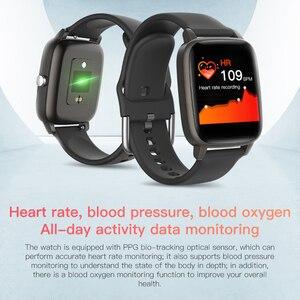 Image 3 - T98 Smartwatch قياس درجة حرارة الجسم مراقب معدل ضربات القلب مقاوم للماء يمكن ارتداؤها جهاز بلوتوث ساعة ذكية لنظام أندرويد IOS
