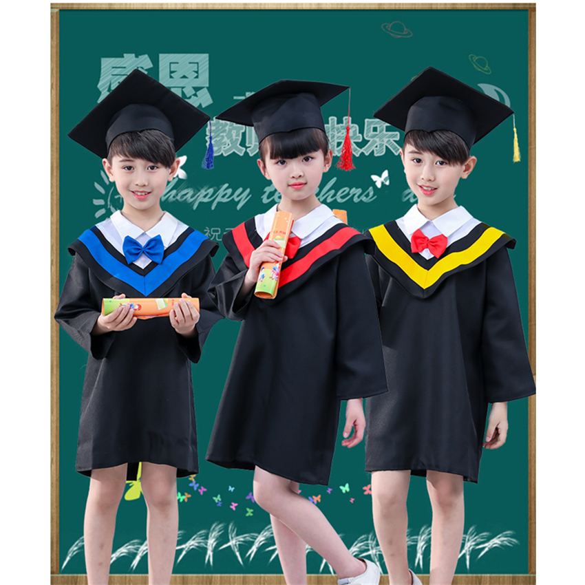 Children Graduation Costumes School Academinc Uniform Boys Gilrs Photography Performance Clothing Kindergarten Bachelor Gowns