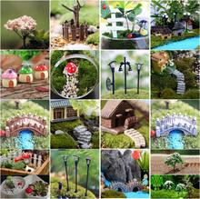 Mini Handwerk Figurine Blumentopf Garten Ornament Miniatur Fee Garten Decor DIY zubehör