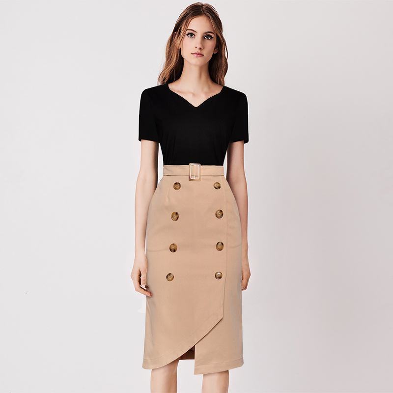 Women Set Clothing For Office Ladies Work Wear Business Formal Vintage Elegant Shirt Tops and Skirts Suits 2 Piece Summer Spring