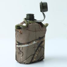 Открытый спортивный военный пластиковый чайник из нержавеющей стали и армейский зеленый тканевый чехол SP01044 S03