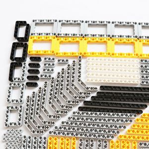 Image 2 - 540PCS 대량 빌딩 블록 벽돌 MOC 장난감 기술 Liftarm 빔 액슬 핀 커넥터 교체 부품 레고 기술과 호환 가능