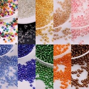 2mm 720 pçs de vidro tcheco semente espaçador contas diy vidro corneta grânulo para fazer jóias artesanal artesanato vestuário acessórios 22 cores