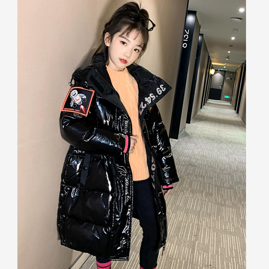 Abrigo de algodón brillante para niños de moda de invierno abrigo impermeable grueso cálido para niñas chaquetas de invierno Y2399