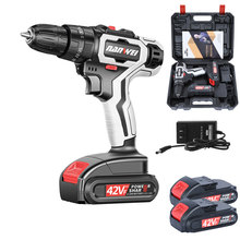 Cordless-Drill Electric-Screwdriver Lithium-Ion-Battery Power Rechargeable 42VF 2-Speed
