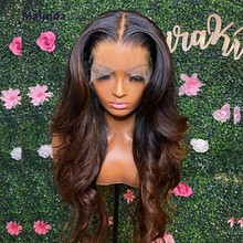 1b/4 Ombre Human Hair Wig Transparent Lace Front Wig 13x6 Lace Frontal Wig Honey Blonde Body Wave Wig For Black Women Human Hair