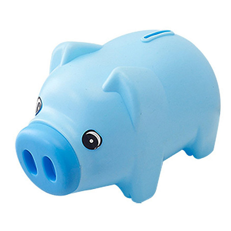 Plastic Piggy Bank Coin Saving Pot Cash Collectible Saving Box Pig Toys AN88