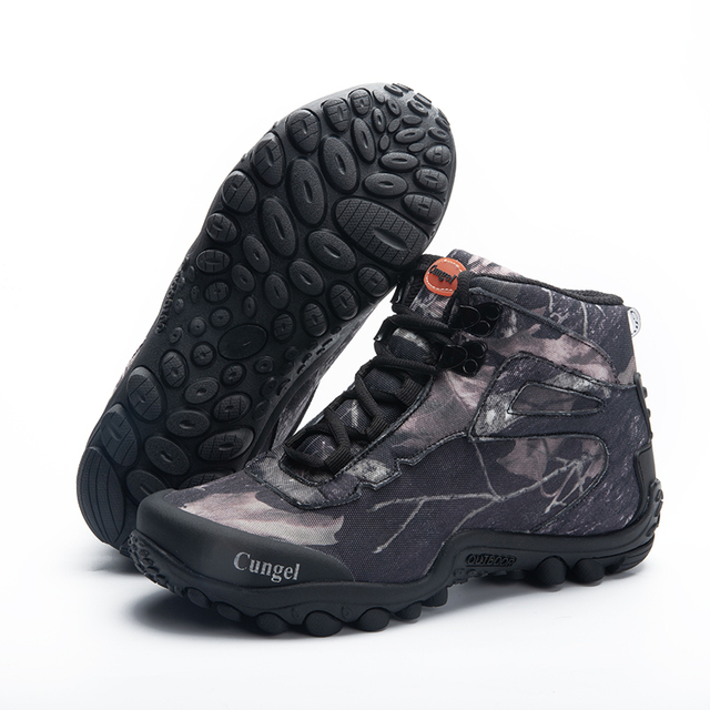NEW Camo Tactical Boots Men Waterproof Military Tactical Boots Outdoor Combat Shoes Trekking Sneakers Man Hiking Hunting Boots 4