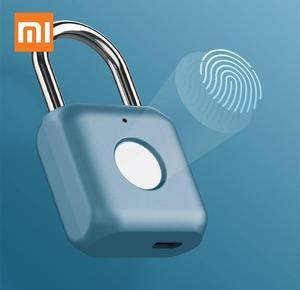 Xiaomi Kitty Smart Touch Fingerprint Door Lock USB Charging Keyless Anti Theft Padlock Mijia Travel Case Drawer Safety Lock(China)