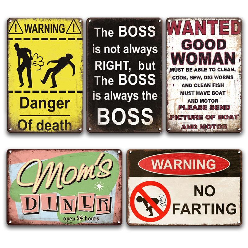 Warning I Heart to Fart Decorative Signs /& Plaques