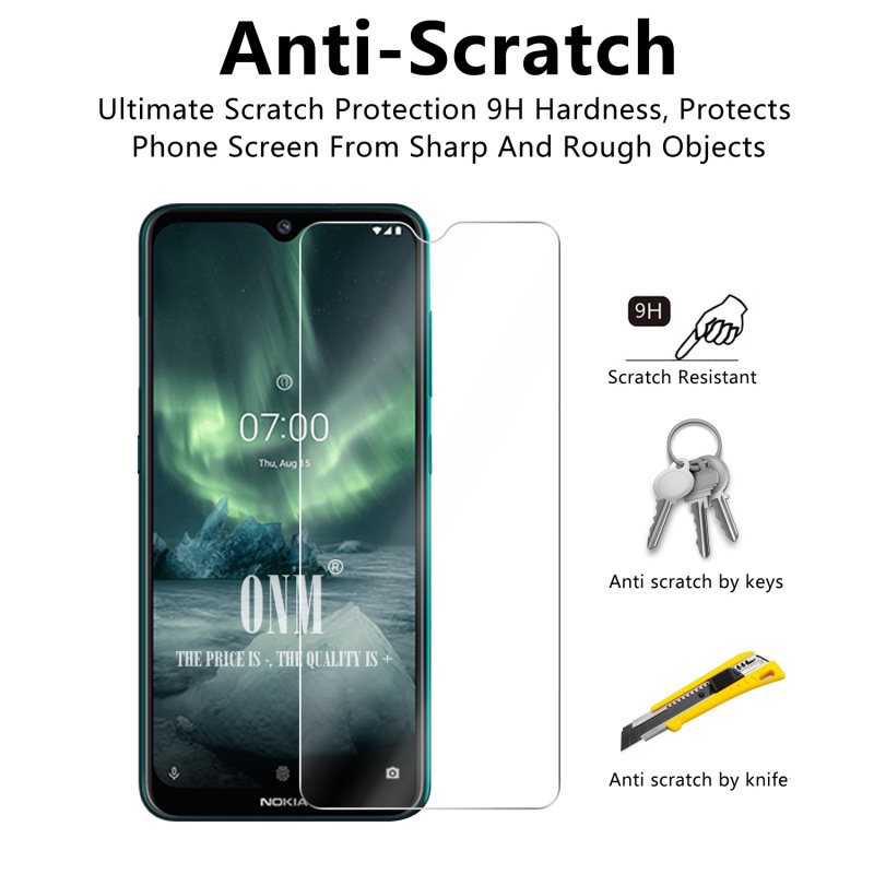 Image 4 - 2Pcs Tempered Glass For NOKIA 7.2 6.2 4.2 3 V 3.1 C 3.1 A 2.2 3.2 4.2 Screen Protector 9H Tempered Glass For Nokia 1 Plus X71-in Phone Screen Protectors from Cellphones & Telecommunications