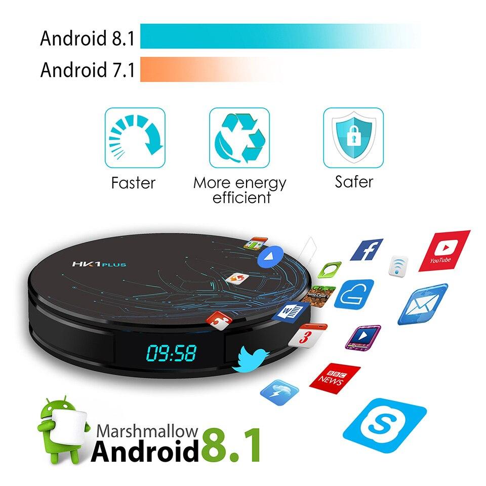 IPTV Italia Arabic French Android 8.1 HK1Plus smart box with Popular channels box 4G 64G Dual-Band Wifi BT4.0 Spain Tunisia IPTV (13)