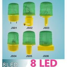 Warning-Light Traffic Solar-Powered Safety-Signal-Beacon Waterproof LED 8 Alarm-Lamp