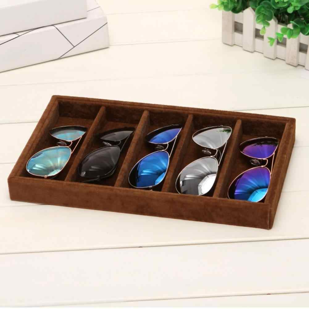 5/6 Grids Sunglasses Glasses Display Tray Holder Storage Box Container Organizer Jewelry Display Glasses Display Tray for Glasse