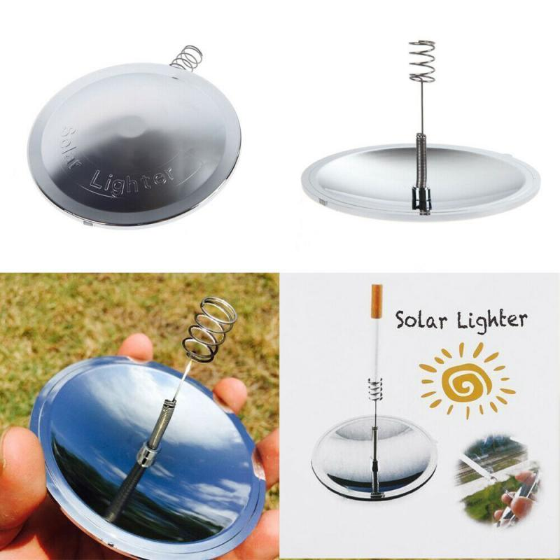 Solar Spark Lighter Outdoor Camping Igniter Fire Emergency Tool Windproof Survival Travel Kits For Camping Hiking Survival