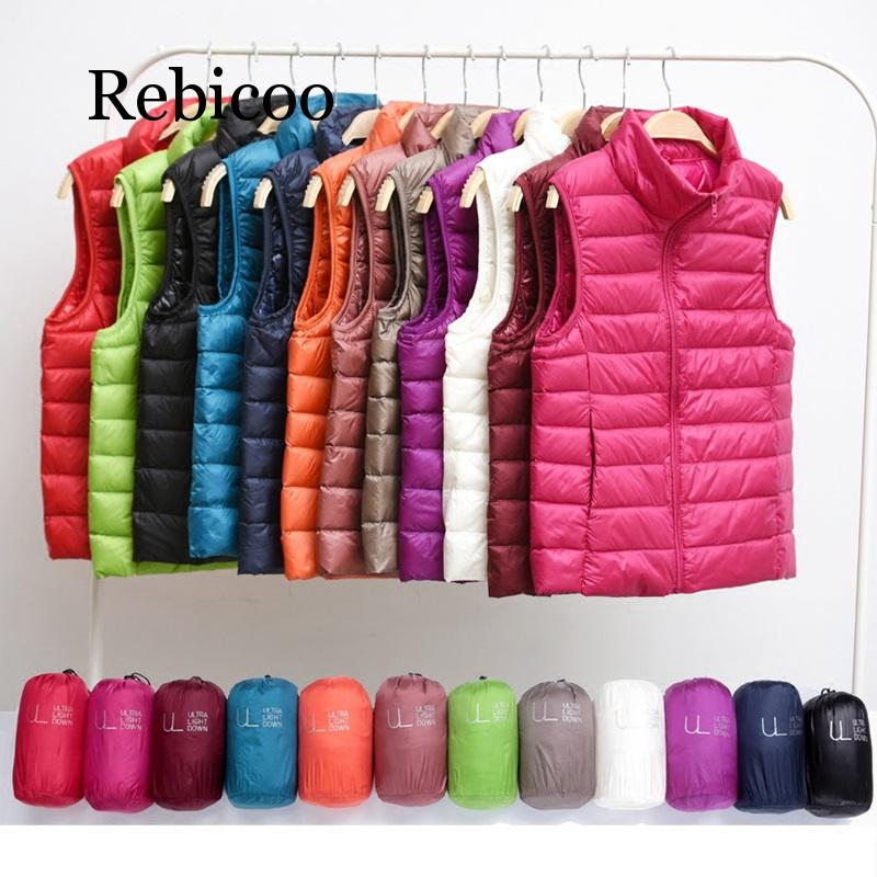 2019 new winter womens down vest fashion sleeveless jacket warm large size