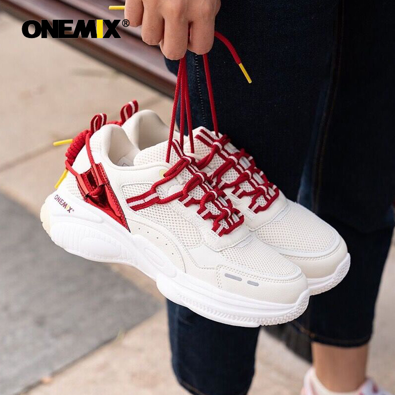ONEMIX Sport Shoes For Men Retro Running Shoes Nice Zapatillas Athletic Trainers Sports Cushion Outdoor Jogging Walking Sneakers