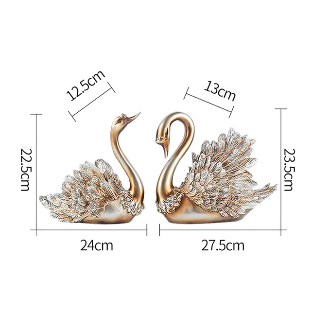 Christmas Halloween Home Decorations Accessories Swan Feng Shui Ornaments Creative Home Decor Figurine for Living Room, Bedroom 5