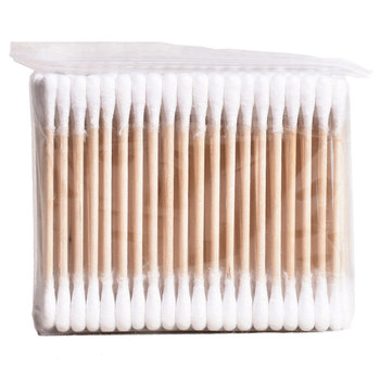 100pcs/ Pack Double Head Cotton Swabs Women Makeup Buds Tip for Medical Wood Sticks Nose Ears Cleaning Health Care Tools health care professional medical double dual head stethoscope double barreled functional high quality estetoscopio