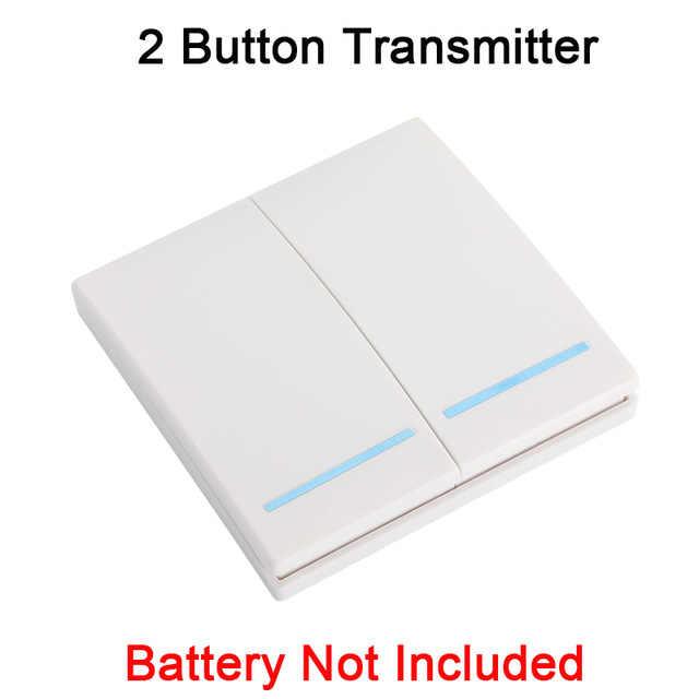 433 MHz evrensel kablosuz uzaktan kumanda anahtarı AC 110V 220V 1CH röle alıcı modülü ve duvar paneli RF uzaktan kumandalar