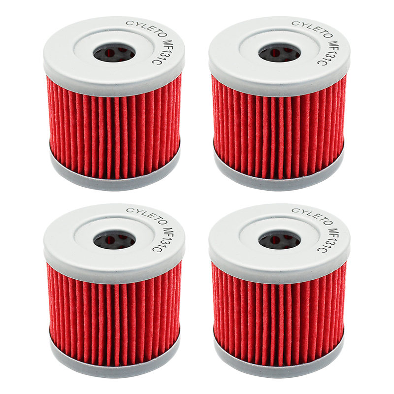 Cyleto Motorcycle Parts Oil Filter For <font><b>Suzuki</b></font> <font><b>GSXS125</b></font> GSXR125 DR100 DR125 BURGMAN AN125 AN 125 AN150 AN400 AN 400 Executive ABS image
