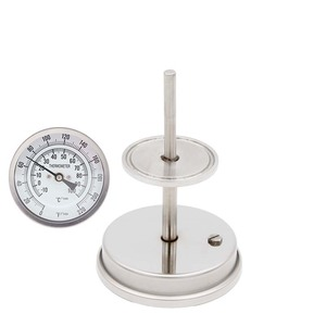 """Image 1 - 1.5""""TC Dial Thermometer 3"""" Large Face Stainless Steel 304 0~220F degree Hombrewing Kettle Conical Fermenter  Thermomete"""