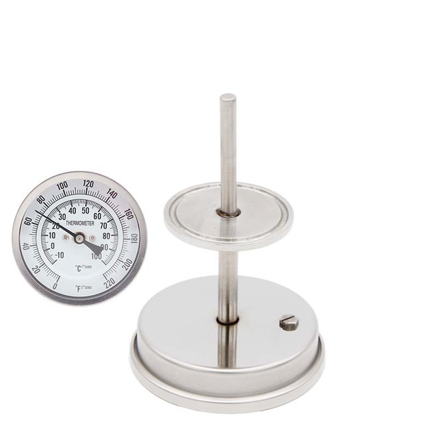 """1.5""""TC Dial Thermometer 3"""" Large Face Stainless Steel 304 0~220F degree Hombrewing Kettle Conical Fermenter  Thermomete"""