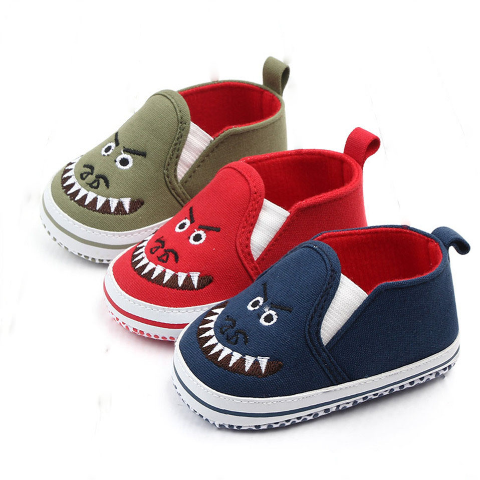 Baby Shoes For Newborn Print Cartoon First Walkers Baby Boy Girls Shoes Soft Sole Anti-slip Toddler Crib Fashion Shoes For Kids