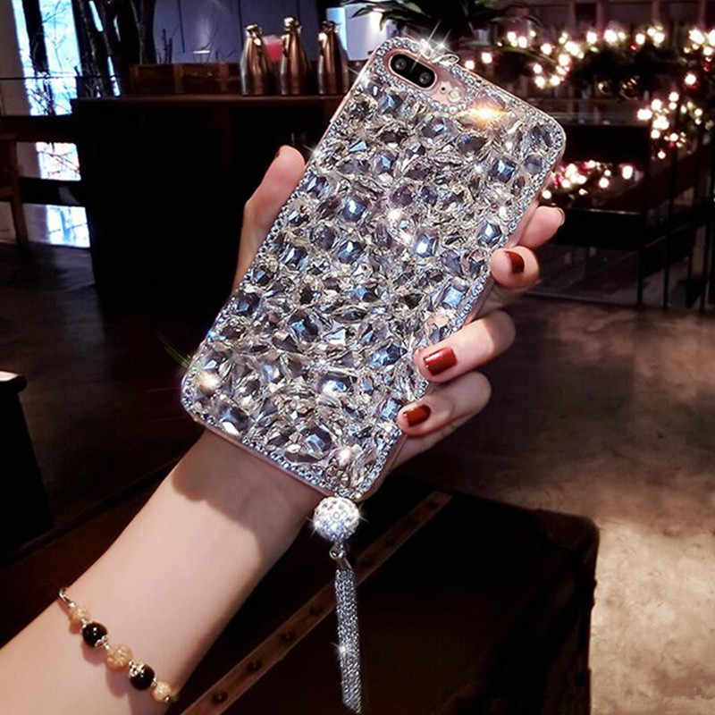 Xsmyiss Voor Xiaomi 8 Lite 9 Se MAX3 Voor Redmi 8 6 7 5A 6A Note 8 5 6 7 pro Luxe Glitter Crystal Diamond Rhinestone Telefoon Case