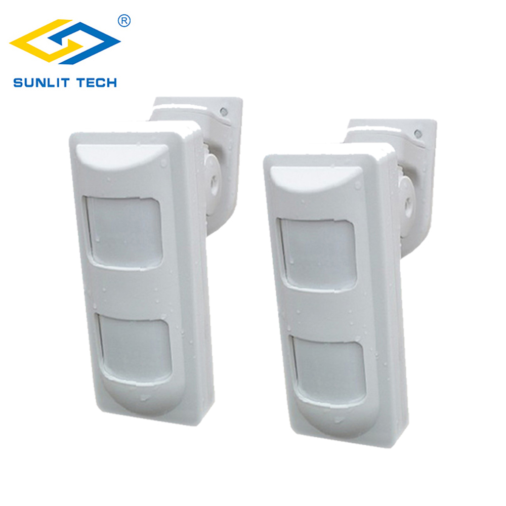 2pcs Wired Dual PIR+Microwave Motion Sensor Detector Outdoor Waterproof Pet Friendly/Wide Angle/Curtain Sensor For Home Alarme